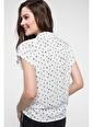 DeFacto Desenli Gömlek Beyaz